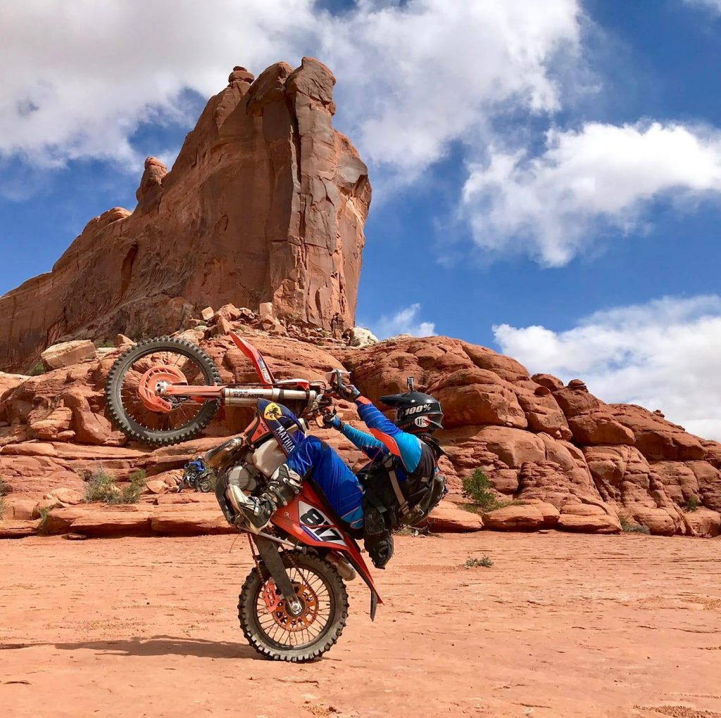 Trail moto aux USA