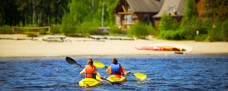 Vacances en famille - Kayak - Auberge du Lac Taureau