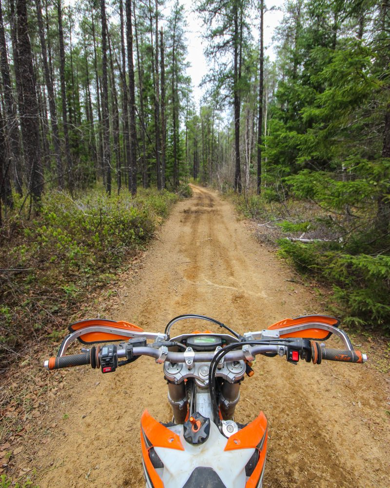 Location moto au Québec - enduro 350 KTM